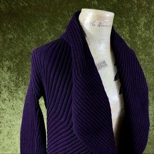 Sara I Sweaters - LAST CHANCE💞Sara I purple ribbed shrug sweater